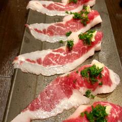 旅先/初めて/馬刺し/熊本/グルメ/旅 熊本で初めて馬刺しを食べました。美味しか…