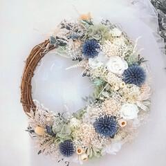 フラワーインテリア/花が好き/minneで販売中/花のある暮らし/ドライフラワー/プリザーブドフラワー/... プリザーブドフラワーリース