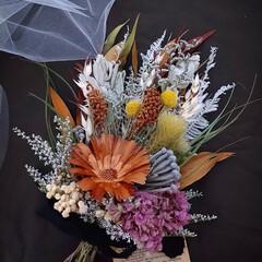 リペンス/フラワーインテリア雑貨/ドライフラワーインテリア/ブーケ/花束/花が好きな人と繋がりたい/... ドライフラワースワッグ(1枚目)