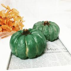 雑貨/インテリア雑貨/ハンドメイド雑貨/フェイクフード/かぼちゃ/Candle/... かぼちゃキャンドル♪