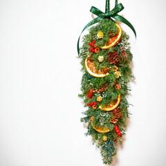 花のある暮らし/プリザーブドフラワー/花雑貨/クリスマス雑貨/クリスマスインテリア/スワッグ/... クリスマスガーランド(1枚目)