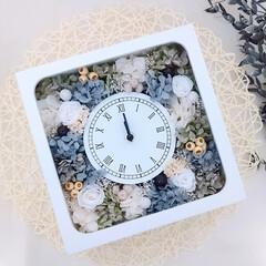 花雑貨/フラワーインテリア雑貨/プリザーブドフラワーアレンジ/花が好き/花と緑がある暮らし/花のある暮らし/... 花時計♪オーダー品です😊(1枚目)