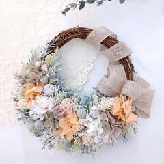 ハンドメイド雑貨/インテリア雑貨/花と緑がある暮らし/花のある生活/フラワーギフト/フラワーインテリア/... フラワーリース