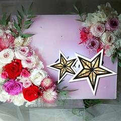 ピンク/薔薇/ハンドメイド作家/ドライフラワー/プリザーブドフラワー/キャンドルアーティスト/... ピクチャーキャンドル♡ 火をつけないキャ…(1枚目)