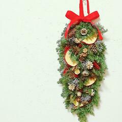 Flower/プリザーブドフラワー/フラワーインテリア/フラワーアレンジメント/クリスマス雑貨/クリスマスインテリア/... クリスマスガーランド
