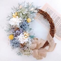minneで販売中/Handmade/ハンドメイド作家/Flower/フラワーリース/フラワーアレンジメント/... プリザーブドフラワーリース