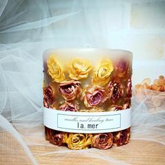 キャンドルアーティスト/Flower/インテリア雑貨/Handmade/aroma/Candle/... バラのボタニカルキャンドル♪(1枚目)