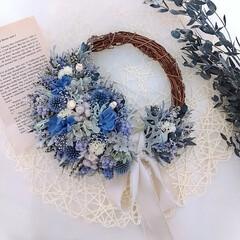 インテリア雑貨/花/Flower/フラワー/花と緑のある暮らし/花が好き/... 今日のリース♪