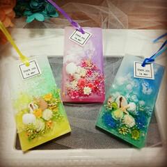 Handmade/Flower/Candle/プリザーブドフラワー/ドライフラワー/アロマ/... 夏サシェ♪何色が可愛いか試作中♪