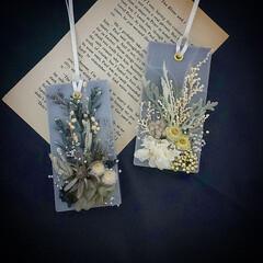 ハンドメイド/インテリア雑貨/花が好き/花のある暮らし/花と緑がある暮らし/ドライフラワー/... グレーのアロマワックスサシェ♪