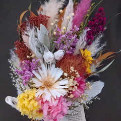 花を楽しむ/花を飾る/ブーケ/スワッグアレンジ/ドライフラワーアレンジ/花が好き/... ドライフラワースワッグ(1枚目)