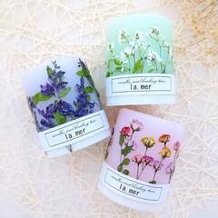 ハンドメイドキャンドル/ハンドメイド作家/ドライフラワー/花と香りのある暮らし/花がある暮らし/アロマ/... ボタニカルキャンドル♪