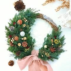 クリスマス準備/クリスマスディスプレイ/ハンドメイド雑貨/プリザーブドフラワー/ドライフラワー/リース/... 少し早いですがクリスマスの準備はじめまし…(1枚目)