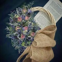 Flower/dryflower/フラワーギフト/花を飾る/花のある暮らし/ハンドメイド/... ドライフラワーリース