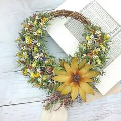 花を飾ろう/花のある暮らし/ドライフラワー/インテリア雑貨/ハンドメイド雑貨/ハンドメイド/... ドライフラワーリース