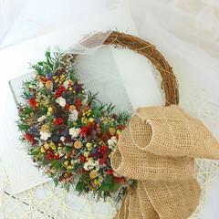 花を飾ろう/花と暮らす/花と緑のある暮らし/花のある暮らし/ハンドメイド雑貨/ハンドメイド/... フラワーリース☆