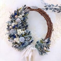 花と緑がある暮らし/花のある暮らし/フラワーリース/小花/Flower/リース/... プリザーブドフラワーリース