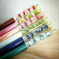 ハンドメイド雑貨/花雑貨/花のある暮らし/プリザーブドフラワー/ドライフラワー/ボールペン/... ハーバリウムボールペン♪  イベントの為…