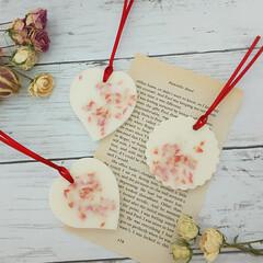 ハンドメイド雑貨/インテリア雑貨/花のあるくらし/花が好き/aroma/アロマの暮らし/... 花びらだけのアロマワックスサシェ