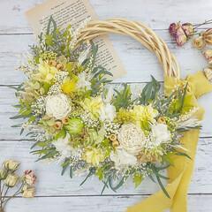 インテリア雑貨/ハンドメイド雑貨/春カラー/花のある暮らし/花が好き/リース/... プリザーブドフラワーリース
