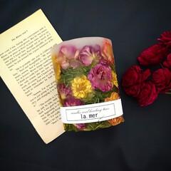 花のある暮らし/キャンドルのある暮らし/薔薇/ドライフラワー/キャンドル/アロマ/... 3dボタニカルキャンドル