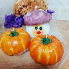 毒キノコ/パンプキン/ハロウィン/カボチャ/かぼちゃ/Candle/... かぼちゃキャンドル♡ハロウィンバージョン…