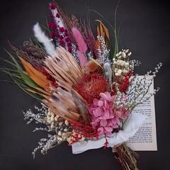 minneで販売中/minne/花と緑がある暮らし/フラワーインテリア/インテリア雑貨/花が好きな人と繋がりたい/... ドライフラワースワッグ(1枚目)