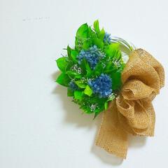 花と緑がある暮らし/花のある暮らし/ハンドメイド/インテリア雑貨/フラワーインテリア/プリザーブドフラワーアレンジメント/... プリザーブドフラワーリース