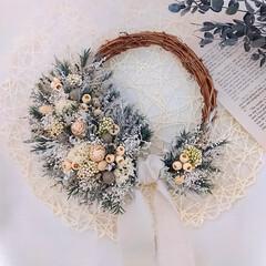 minneで販売中/プレゼント/お祝いギフト/花が好き/花がある暮らし/花のある暮らし/... 今日のリース♪ プリザーブドフラワーの小…
