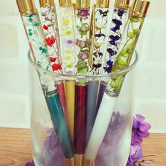 ハンドメイド雑貨/プリザーブドフラワー/ドライフラワー/ハーバリウム/ハーバリウムボールペン/ボールペン/... 在庫無くなったのでボールペン作り♪