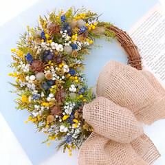 minneで販売中/Flower/ハンドメイド作家/インテリア雑貨/フラワーインテリア/花と緑のある暮らし/... ドライフラワーリース