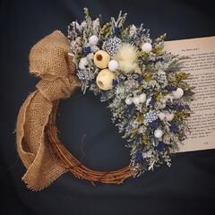 minneにて販売中/フラワーギフト/花がある暮らし/癒しの花/花を飾る/花が好き/... プリザーブドフラワーリース