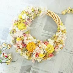 花雑貨/フラワーインテリア/プリザーブドフラワー/新築祝い/プレゼント/お祝いギフト/... プリザーブドフラワーリース♡
