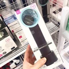 ハンディファン MTL-F005(扇風機、サーキュレータ)を使ったクチコミ「ダイソー新商品。 羽なし扇風機です。 ダ…」
