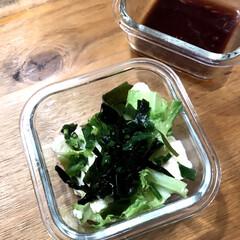 KADS 八角形ネイルダッペンディッシュ フタ付き ガラス製 筆洗いガラス容器 ジェルネイル用筆洗浄(ジェルネイルワイプ)を使ったクチコミ「今日の朝ごはんは、昨日の残りの豆腐サラダ…」