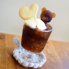 コースター/ガラスコップ/グラス/雑貨/クッキー/ひとり時間/... 珈琲フロート♡
