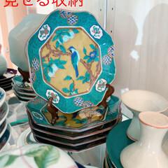 Mitsuki's  Nasse/食器棚/カップボード/和食器のある暮らし/和食器コレクション/和食器/... お気に入りのお皿は、重ねて一枚は皿立てに…