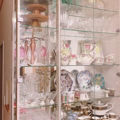オーダー家具/家具/壁収納/食器棚収納/食器収納/食器棚/... リビングの食器棚です✨食器を集めるのが好…