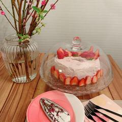 シフォンケーキ/いちご/おうちスイーツ/Mitsuki's nasse/LIMIAな暮らし/ひな祭り/... ひな祭りに、苺のシフォンケーキ作りました…(3枚目)