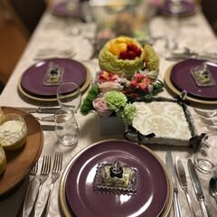 グラス/テーブルウェアー/ダイニング/テーブルコーディネート/テーブルコーデ/LIMIAな暮らし/... タイ🇹🇭のセラドン社の紫プレートです^_…