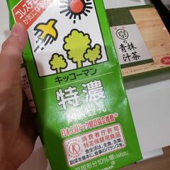 キッコーマン飲料 特濃調製豆乳 1L×6本(豆乳、豆乳飲料)を使ったクチコミ「昨日のピーマンのポタージュもこれで作りま…」