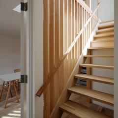 木/シンプル/光 木でつくった透ける階段です。