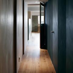 オークフローリング/木製ドア/廊下 玄関ホールからリビングにつながる廊下です。