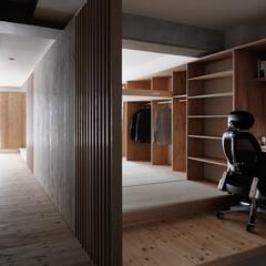光/玄関ホール 玄関を入ると開放的な室内空間が広がってい…