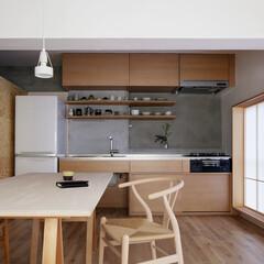 障子/木枠/フローリング/キッチン/ペンダント照明/ダイニング/... 落ち着いた雰囲気のキッチンです。(1枚目)