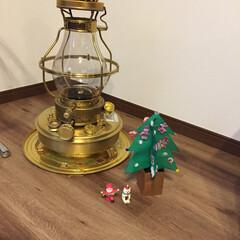 クリスマスツリー/石油ストーブ/真鍮 娘の手作りツリーとほっこり石油ストーブ