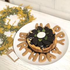 おやつ/簡単おやつ/ノアール/オレオ/オレオチーズケーキ/手作りケーキ/... 今日は、ささやながら主人の誕生日を家族で…(1枚目)
