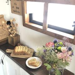 花のある暮らし/今日のおやつ/紅茶のケーキ/ホームベーカリー/ダイニング/DIY/... こんにちは˚✧₊⁎✳︎ 久しぶりの投稿に…(1枚目)