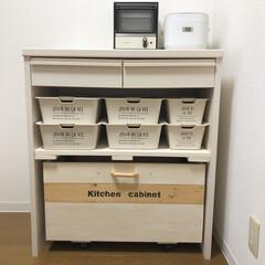 収納BOX/キャスター付き収納/レコルトトースター/トースター/ホワイトインテリア/limiaキッチン同好会/... 新生活のシーズン✨ 昨年の今頃は、娘の一…