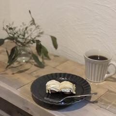 漆喰/古材風/ナチュラルインテリア/カフェ風インテリア/おうち時間/モンブラン/... 地元で美味しいケーキ屋さん♡ ここのプチ…